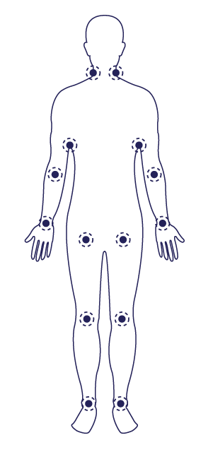 Adults and adolescents can apply magnesium chloride topically to their wrists, armpits, inner elbows, behind their knees, and around their groin.